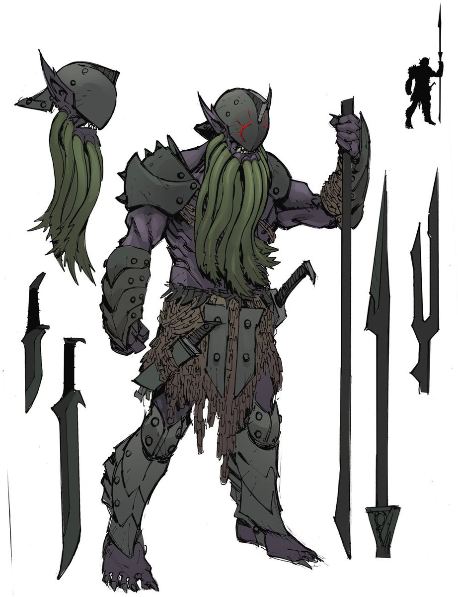 Max Dunbar On Twitter D D Baldur S Gate Descent Into Avernus Is Out In 1 Week Here Is Some More Concept Art For The Devil Legions Of The Blood War Bearded Devil Chain