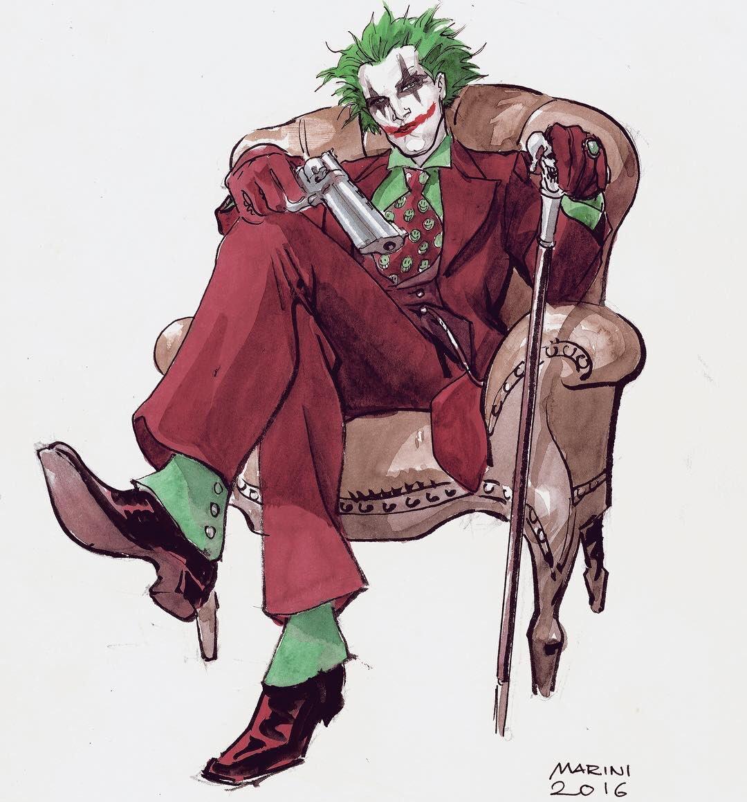 Enrico Marini On Twitter Joker Early Concept Art For The