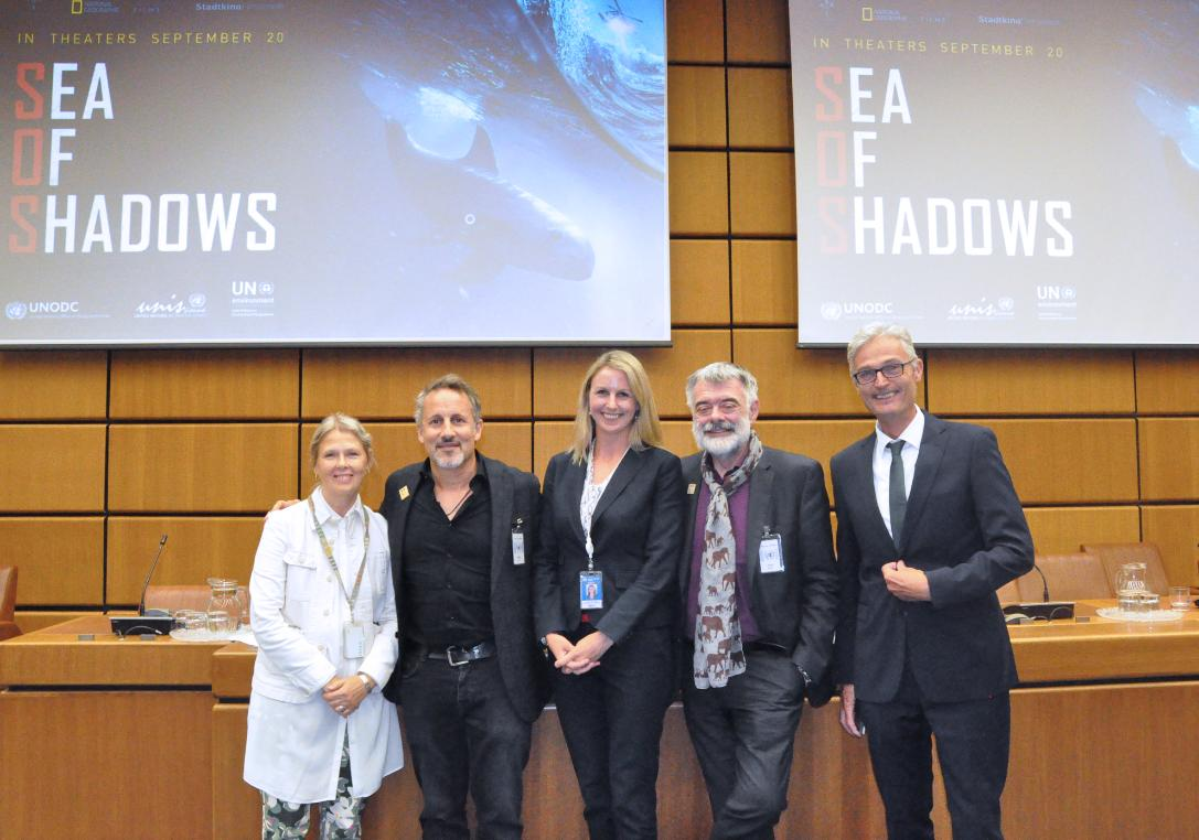Wildlife crime is a threat to the environment, but we can do something about it. @UNODC_WLFC @UNODC @UNEnvironment and @StadtkinoWien have come together for a screening of #SeaofShadows and an insightful panel discussion with filmmaker @RichardLadkani afterwards.<br>http://pic.twitter.com/7PHcW5A8Mc
