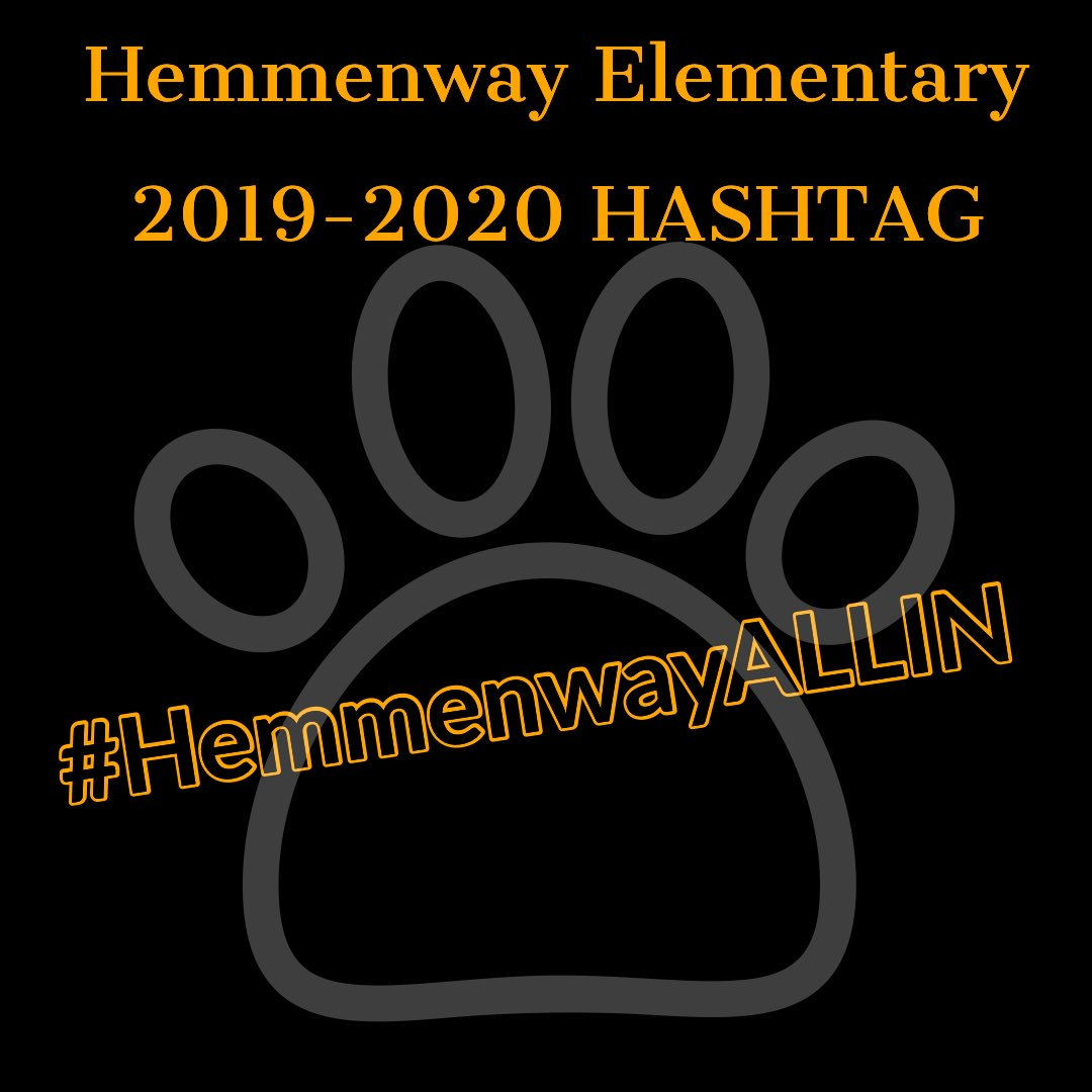 Attn Hemmenway staff, please tag all your amazing posts w/ our 2019-2020 hashtag!! *Tell the others* 💛🖤💛🖤