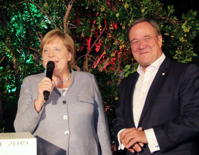 BK A. Merkel auf dem NRW Sommerfest in Berlin: NRW ist