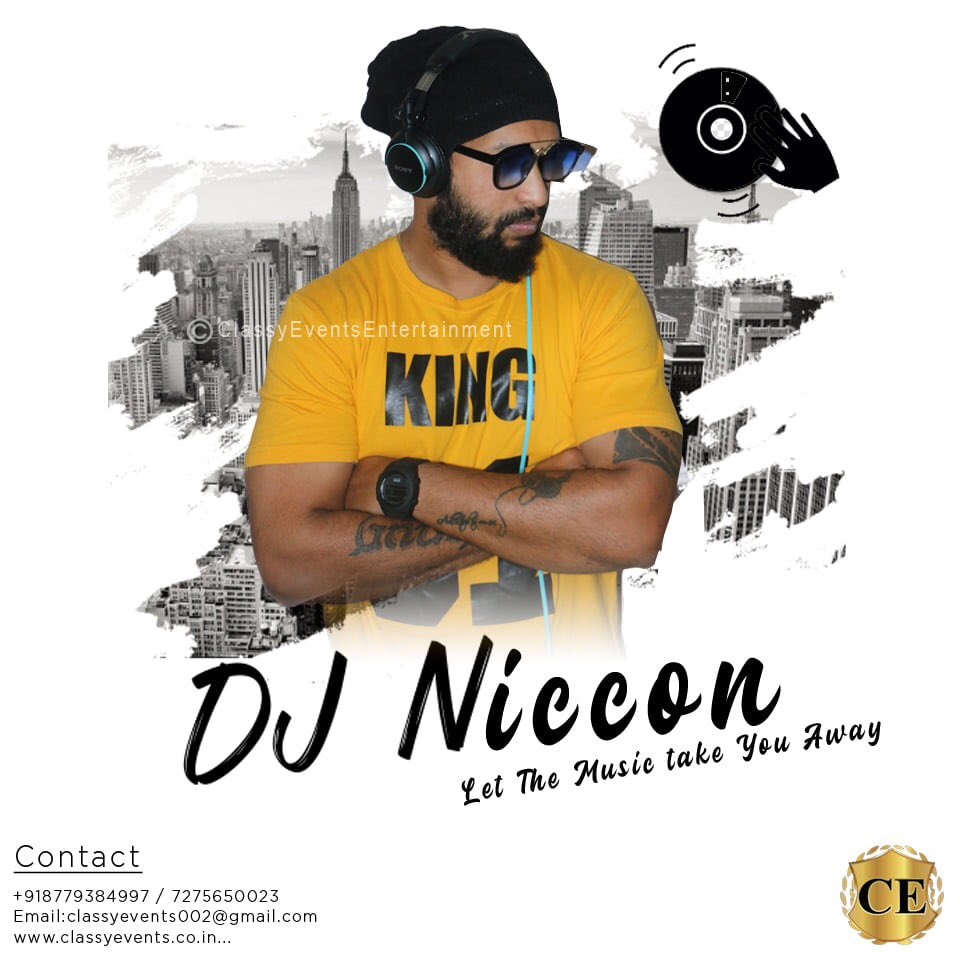 Let The Music Take You Away With Us  The Awesome DJ Niccon is available for special appearance and performances. Event managed by CLASSY EVENTS ENTERTAINMENT  For More Info Contact Us - 8779384997 / 9930326037 classyevents002@gmail.com www.classyevents. pic.twitter.com/Ls3Vm8T1x9
