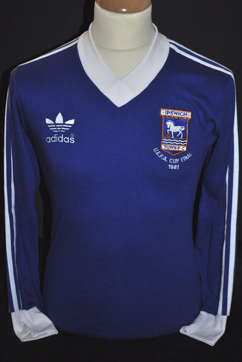 When #Ipswich conquered Europe! Terry Butchers long-sleeved matchworn from the second leg of the 81 UEFA Cup final against AZ Alkmar at the Amsterdam Olympic Stadium. 5 - 4 winners on aggregate! #ITFC #IpswichTown #TractorBoys