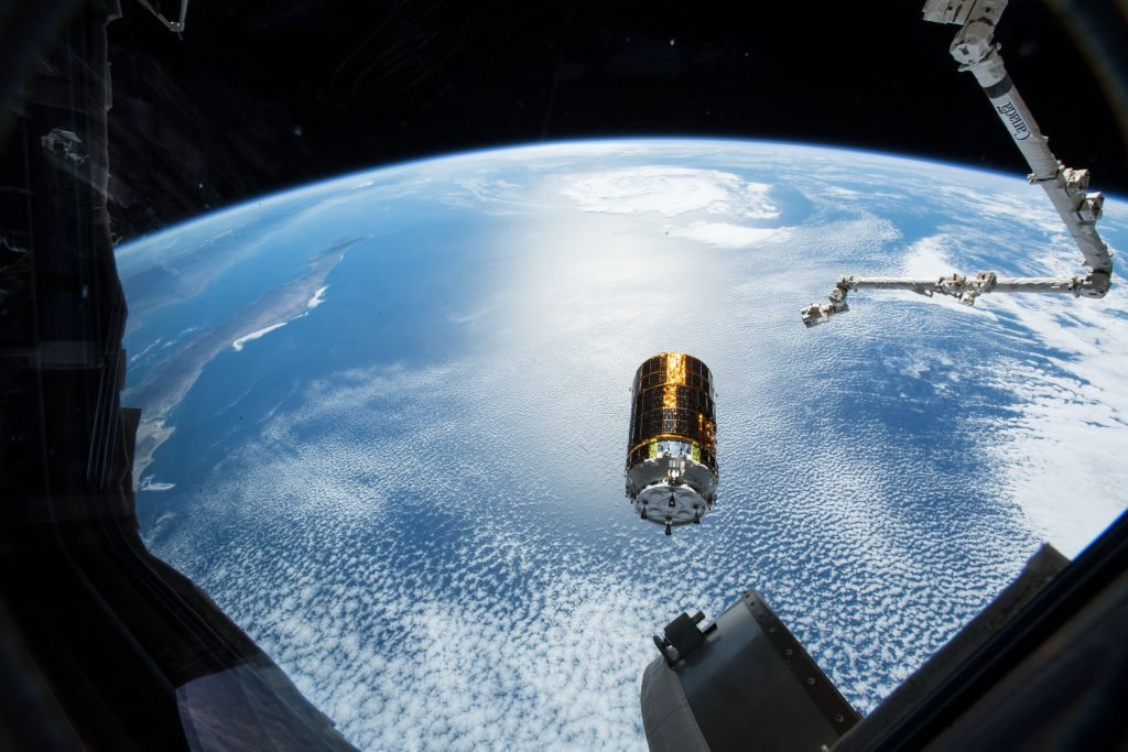 """Ten years after @JAXA_en launched its first HTV mission, today the HTV-8 """"Kounotori"""" cargo craft will launch from the Tanegashima Space Center to the Space Station. @NASA TV coverage will start at 5:00 pm EDT. go.nasa.gov/2UIWewS"""