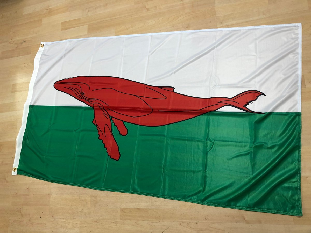 Hey #IndyWales. Remember that #PrinceOfWhales flag we talked about, just after the @realDonaldTrump tweet thing? Well now it's a real flag and on its way over to an ex-pat customer in the USA! Happy to make one for @WhiteHouse too if they want one. You're welcome.<br>http://pic.twitter.com/OJRYQHruTQ
