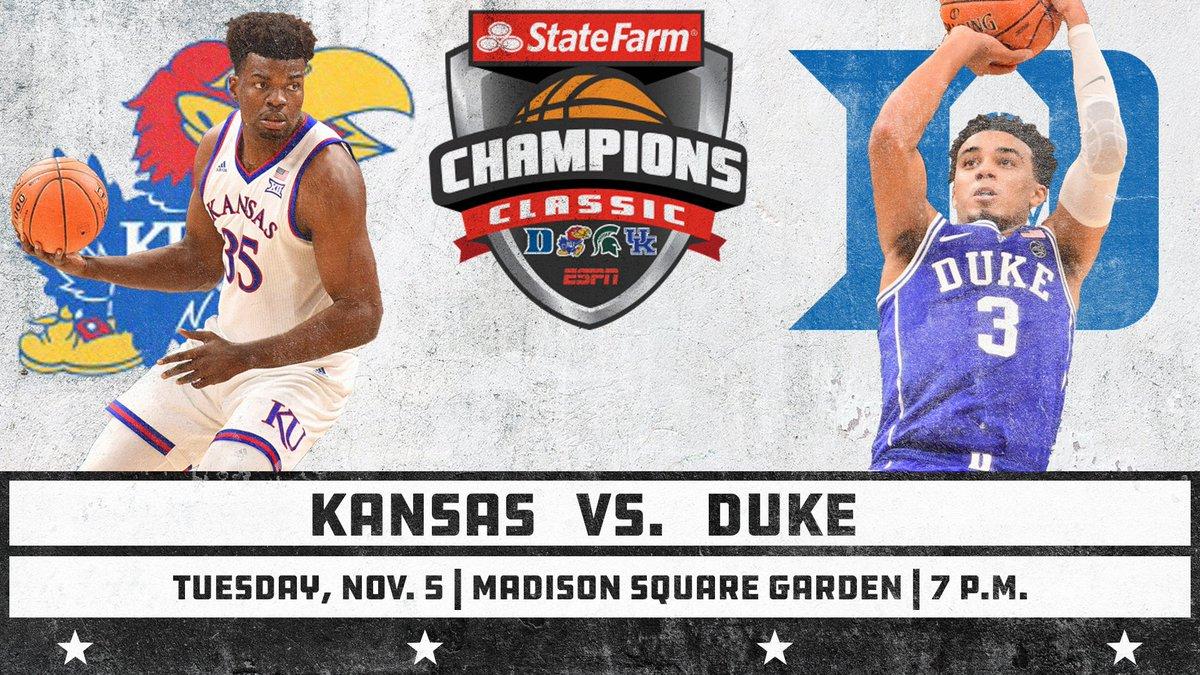 Tip-Off Time Announced For Duke-Kansas Season Opener