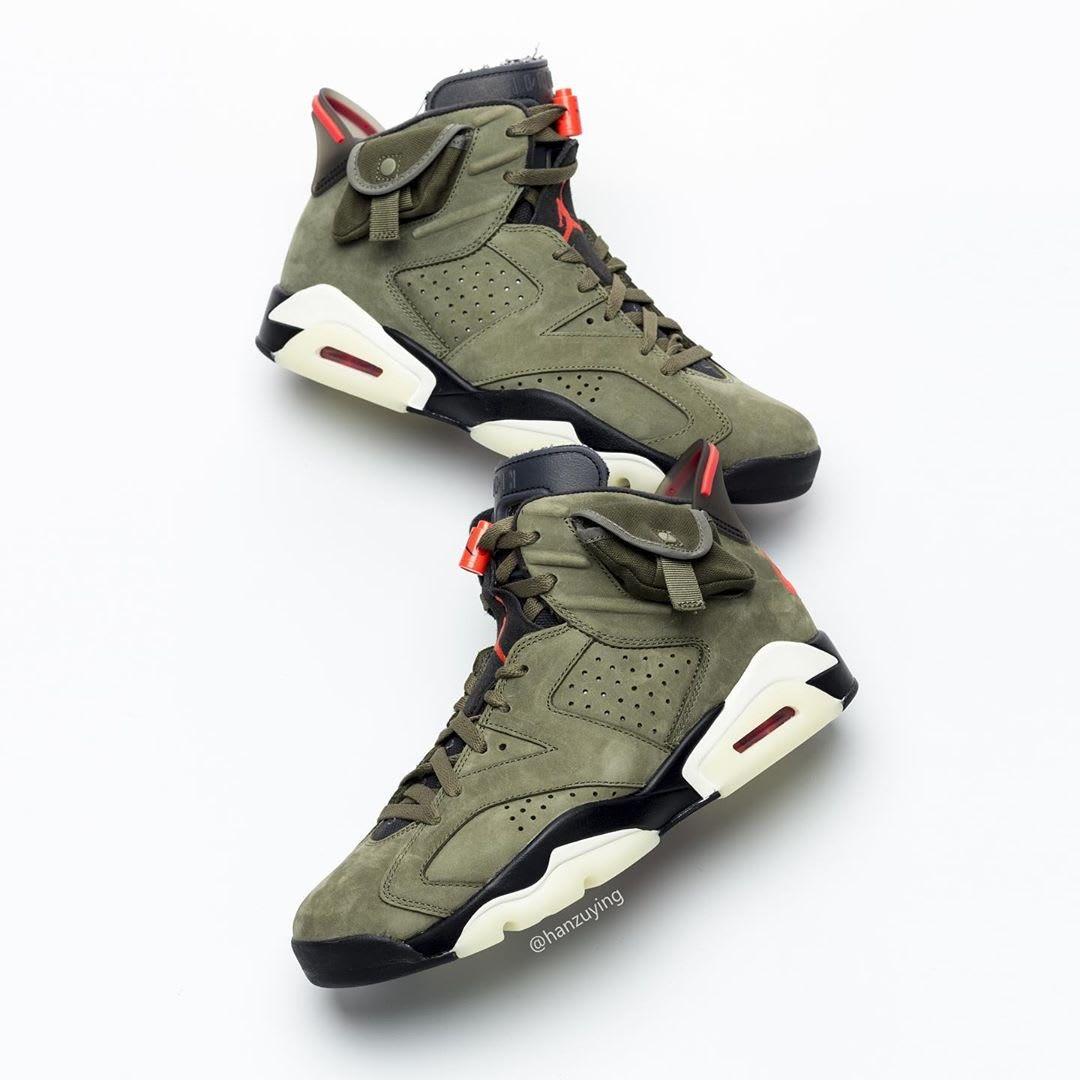 The @travisscott x Air Jordan 6 release