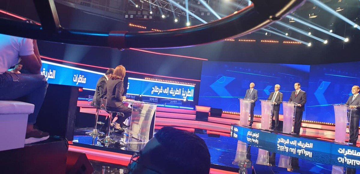 Fier d'avoir participé au débat télévisé consacré aux élections présidentielles.Un précédent qui confirme le caractère unique de la démocratie tunisienne. https://t.co/7vlMKzWyxK