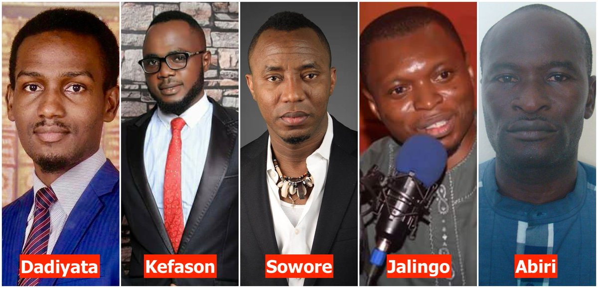 Its exactly 40 days today since social media critic Dadiyata went missing. Steven Kefason has now spent 113 days locked up in a Kaduna prison. Sowore marks 39 days in DSS detention. Agba Jalingo is being charged with treason. Jones Abiri still in detention. We cannot be quiet!