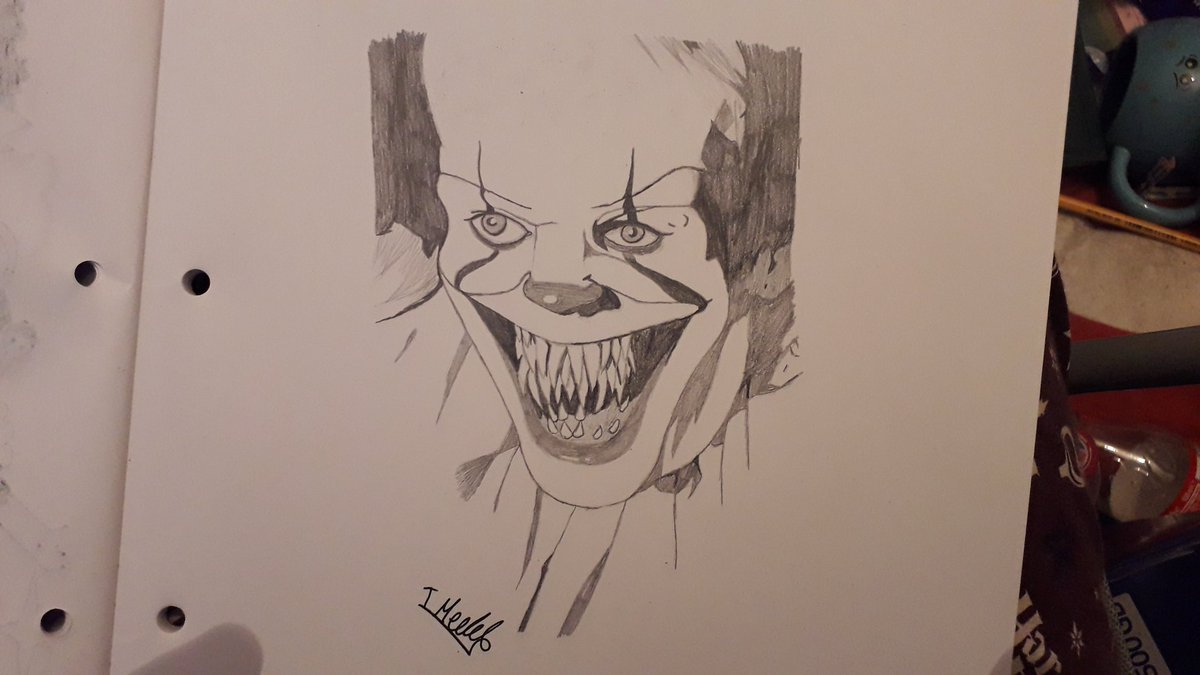 Fist Time Drawing Pennywise And Hes Not A Cartoon Character
