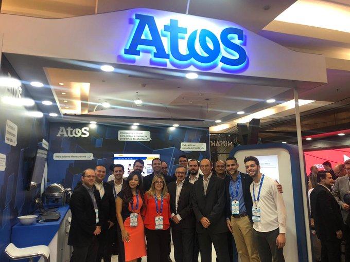 O Time de Especialistas da Atos está reunido no CONAREC 2019, apresentando asnovas soluções...