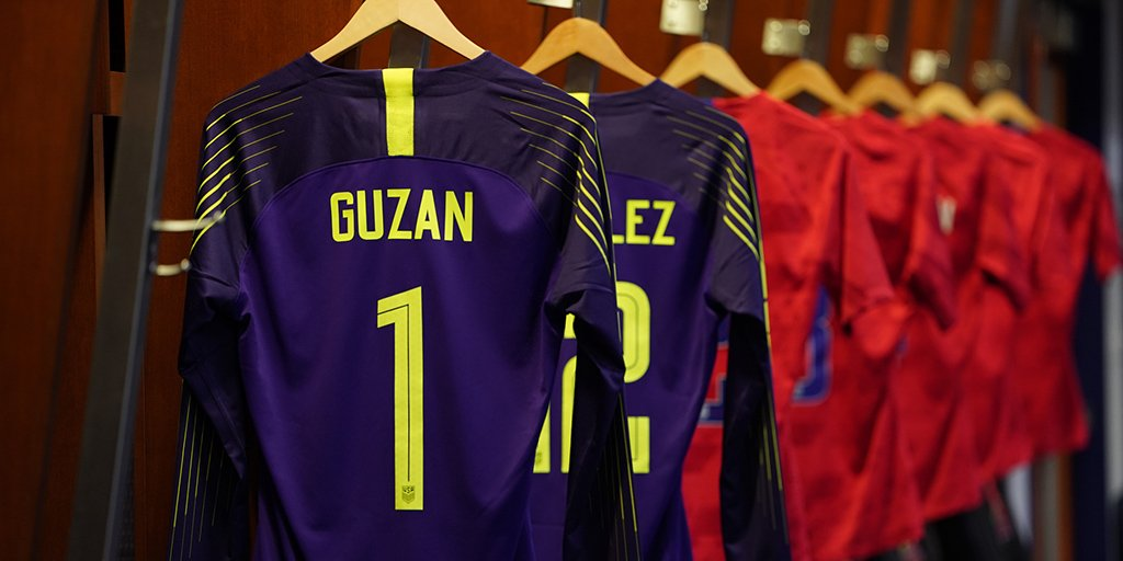 A day after his birthday, veteran goalkeeper @bguzan earns his 61st cap and first of 2019 in #USAvURU. 🙌🧤⚽️