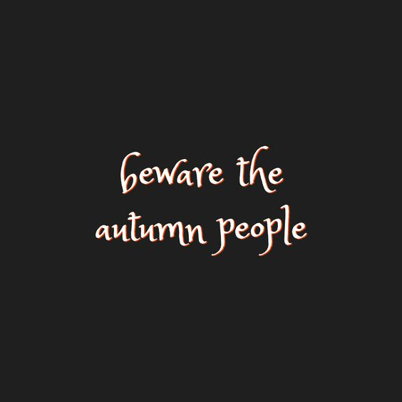 #Fall  is coming!