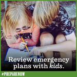 September is National Preparedness Month. 🦺 Teach children how to handle an emergency, whether at home or school. Review emergency plans with kids. #PrepareNow