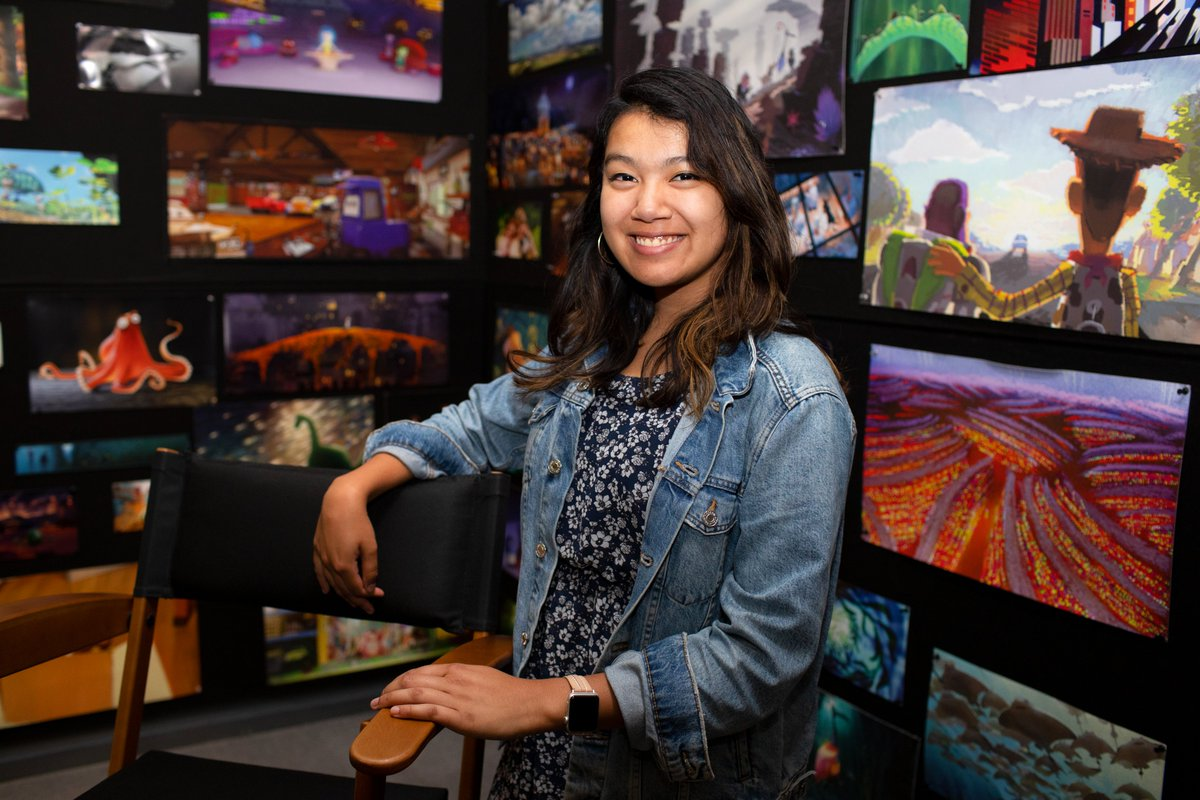 """Madeleine Fernando (PR Intern)What's the best memory of your internship?""""Attending D23 Expo! Getting to work at the booth was an incredible experience and reminded me just how much Pixar's films have resonated with people from around the world."""""""