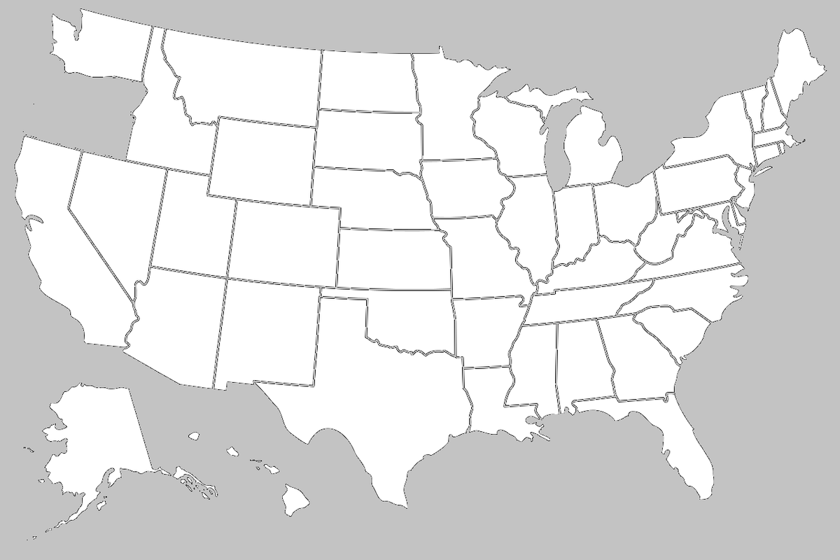 Map of the United States if it was an Oregon doner #Map #Maps #Terriblemaps #TerribleMap #USA #Oregon #unitedstates