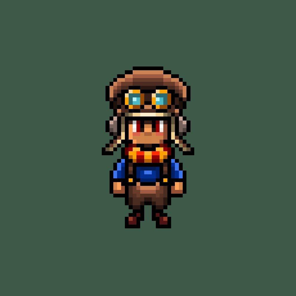 Second try at making a 16-BIT character #gaming #rpg #JRPG #art #gameart #gamedev #2D #sprite #2dlove #pixelart #gamedesign #retrogames #RetroGameSearch #steampunk #SNES #indiegame #indiegames #indiedev