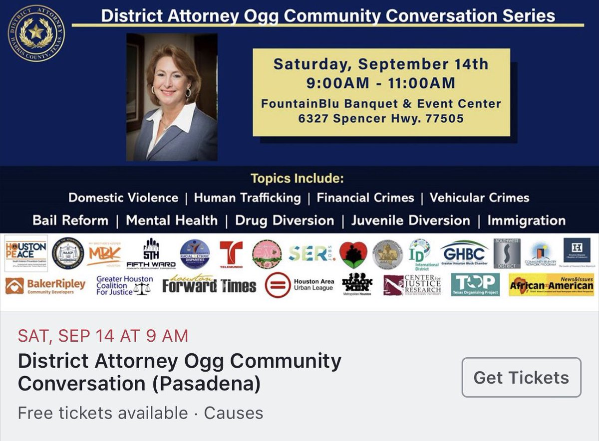 Please join us to discuss issues affecting our Harris County communities. facebook.com/37397148606912…