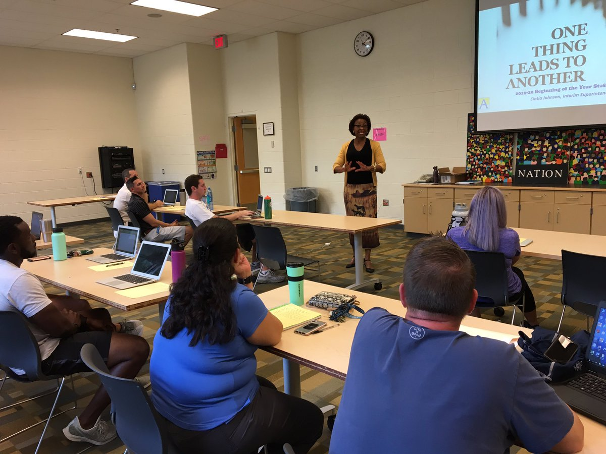 Thanks <a target='_blank' href='http://twitter.com/JohnsonCintia'>@JohnsonCintia</a> APS Interim Superintendent speaks to the APS Athletic Administrator Cohort <a target='_blank' href='http://twitter.com/WLHSAthletics'>@WLHSAthletics</a> <a target='_blank' href='http://twitter.com/WakeAthletics'>@WakeAthletics</a> <a target='_blank' href='http://twitter.com/yhssports'>@yhssports</a> <a target='_blank' href='http://twitter.com/APSVirginia'>@APSVirginia</a> <a target='_blank' href='https://t.co/aWeYDTJ6KK'>https://t.co/aWeYDTJ6KK</a>
