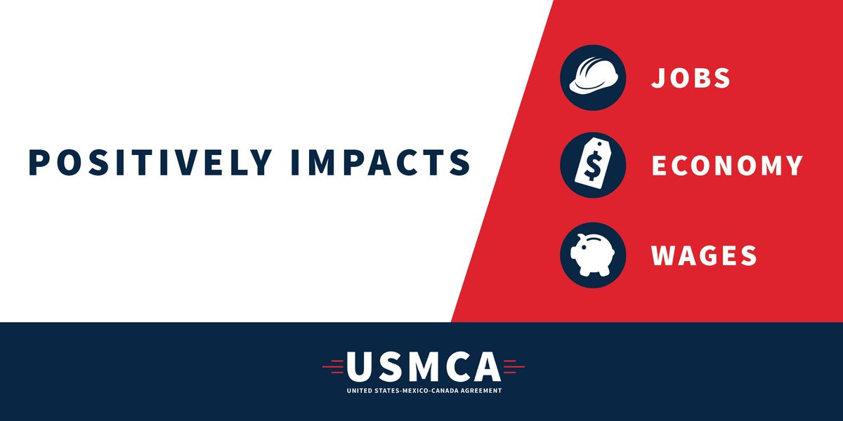 The #USMCA is a deal for the 21st Century that will support mutually beneficial trade and lead to freer and fairer markets! #USMCAnow