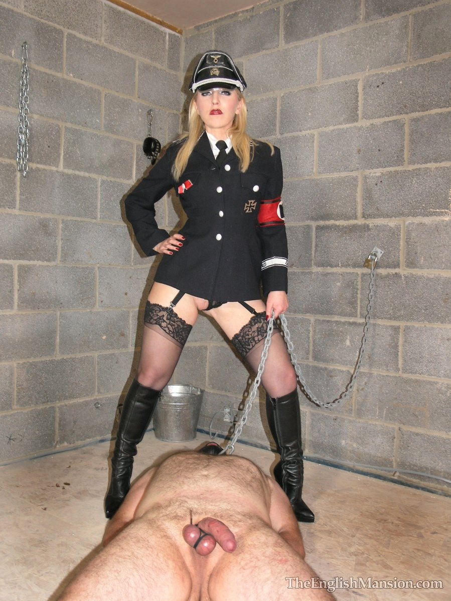 Leather nazi mistress