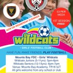 GIRLS' WILDCATS RETURN TO ACTION TOMORROW EVENING...  After the recent summer break, we hope to see loads of girls tomorrow evening (11.09.19), click the link for more info -  Please spread the word ✅⚽👍 @cornwallfa @KernowYouth https://t.co/HsgSpKR0ig