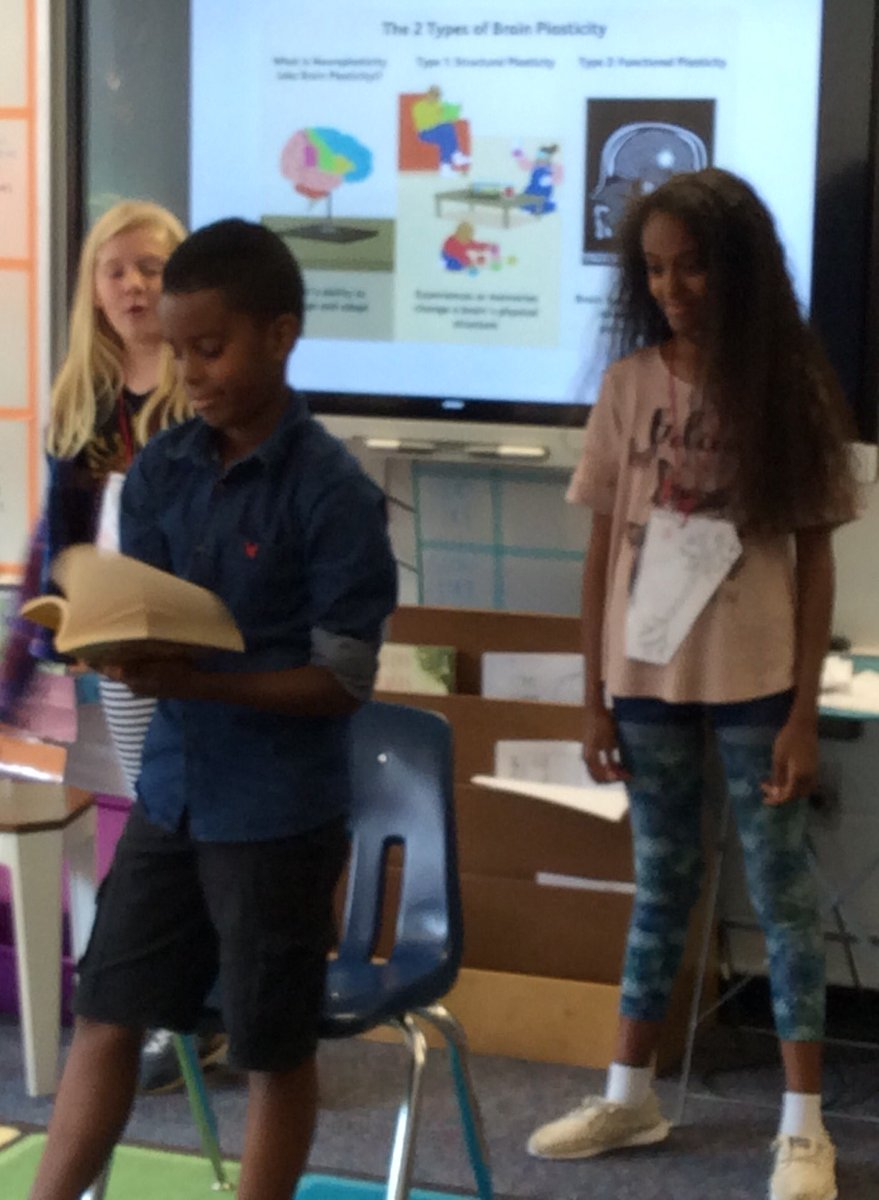 5th graders performed a skit to kick off our discussion of neuroplasticity <a target='_blank' href='http://twitter.com/mskleif'>@mskleif</a> <a target='_blank' href='http://twitter.com/APSGifted'>@APSGifted</a> <a target='_blank' href='http://twitter.com/ELeducation'>@ELeducation</a> <a target='_blank' href='https://t.co/B8p9HlKmer'>https://t.co/B8p9HlKmer</a>