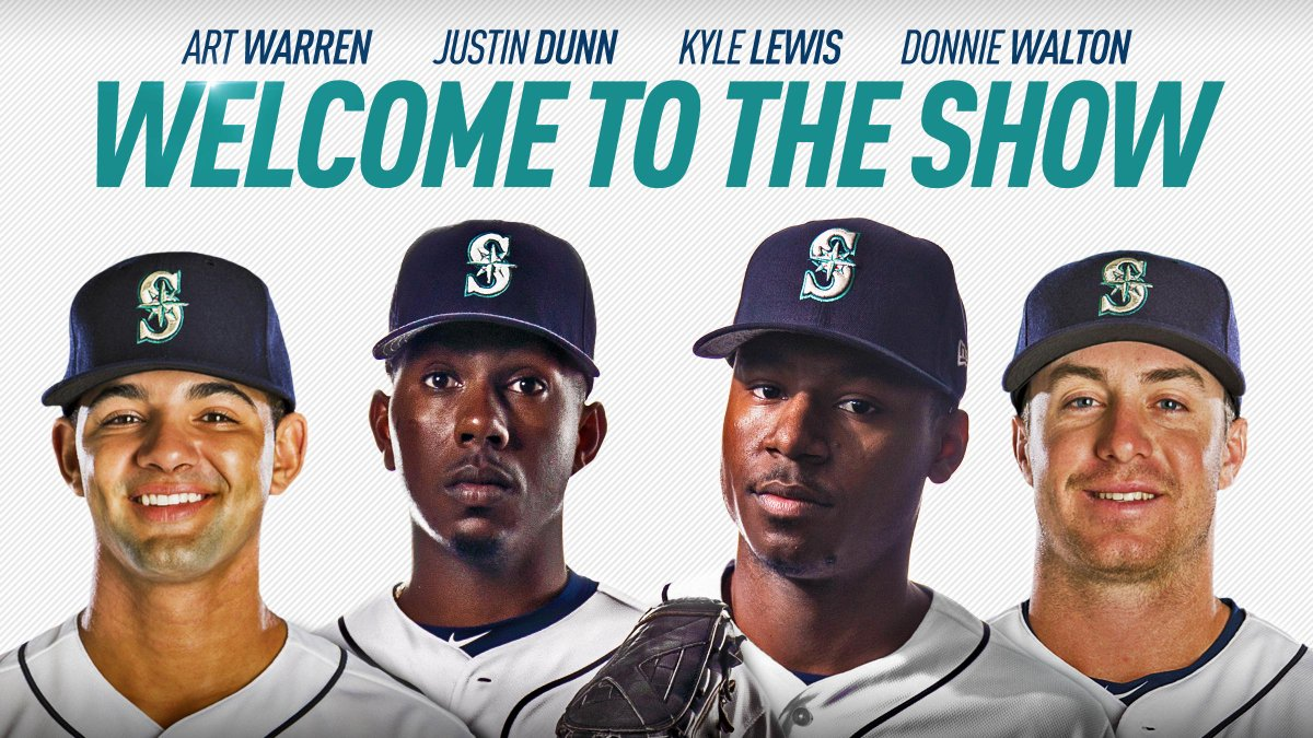 It's time. ⌚Kyle Lewis, Justin Dunn, Art Warren, and Donnie Walton are all set to make their big league debuts. 📰https://atmlb.com/2LH2Qrt