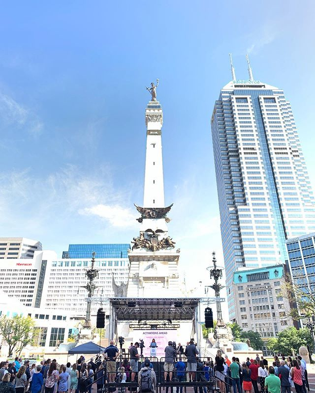 We're excited about big things coming up from our friends at @downtownindy with #shinethelightindy on Monument Circle. Excellent reveal of this project funded by Lilly Endowment! https://t.co/UVCVTcaS1w