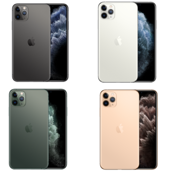 iPhone 11 Pro/Pro Max colors Space gray, silver, midnight