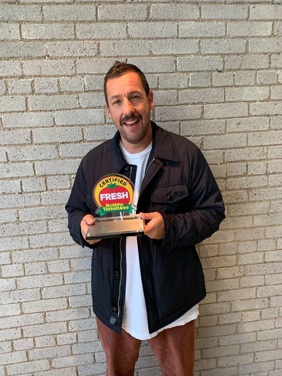 We gave @AdamSandler a belated birthday present at #TIFF19! His comedy special 100% Fresh is actually #CertifiedFresh at 90%!