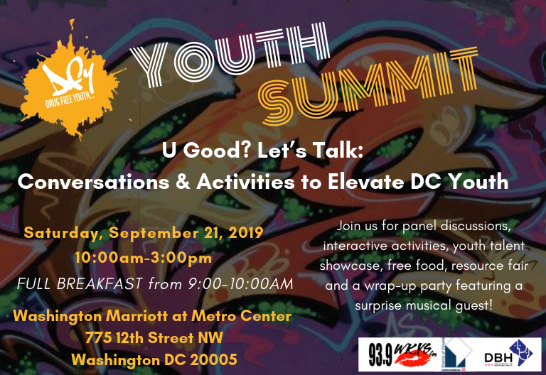 We are counting down to the DBH Youth Summit on Saturday, September 21, 2019! For more information about the summit and to register visit https://t.co/TeNaXpAFH2 today!
