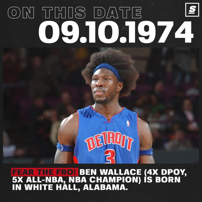 From undrafted to one of the greatest defensive players of all time. Happy birthday Ben Wallace!
