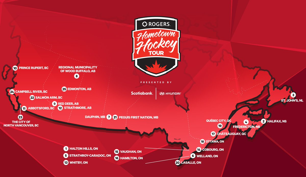 The stage is officially set, 🇨🇦! Which stop will you be joining us at? 📍🍁