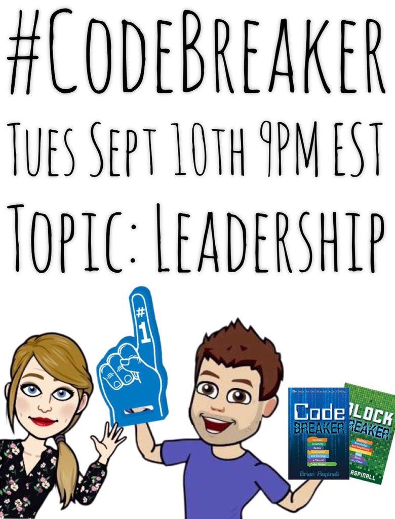 Please join us at 9:00 PM EST tonight! #codebreaker @mraspinall @teresagross625 @MsPhillipsHRCE