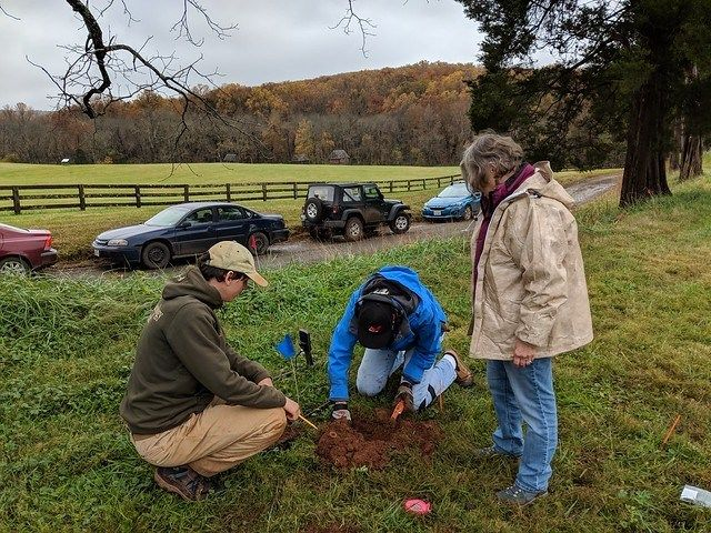 Excavations are underway at the Overseers House at Montpelier - read about how we know where to dig to find the building! bit.ly/2NV70yK