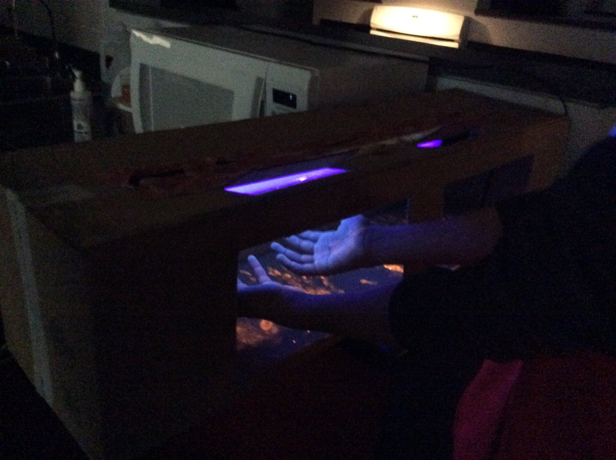 All about safety this week in FACS!  Students in Foods used GloGerm and a black light to test their hand washing.  Teens in Child Development identified common household items that could be dangerous for kids. <a target='_blank' href='https://t.co/yfFtG36Aqr'>https://t.co/yfFtG36Aqr</a>