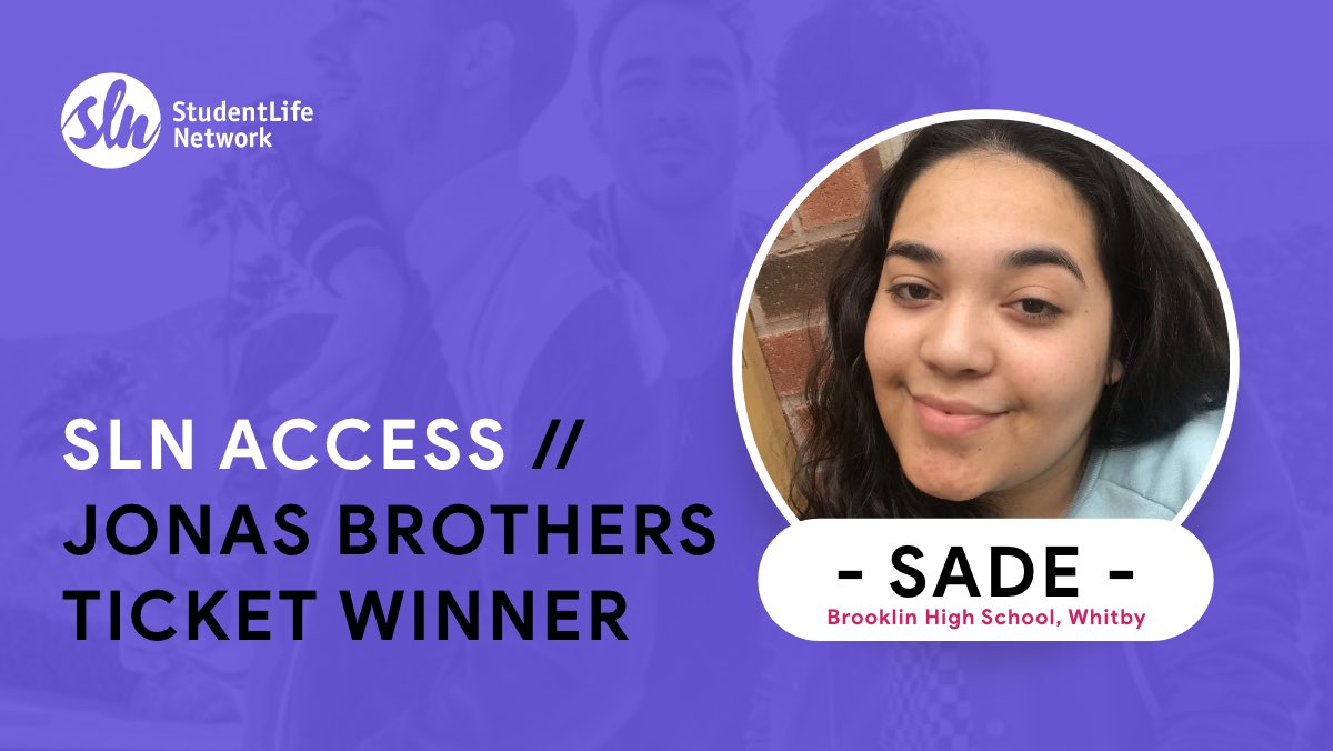 Sade Richards from Whitby got to attend the Jonas Brothers concert in August thanks to #SLNAccess.