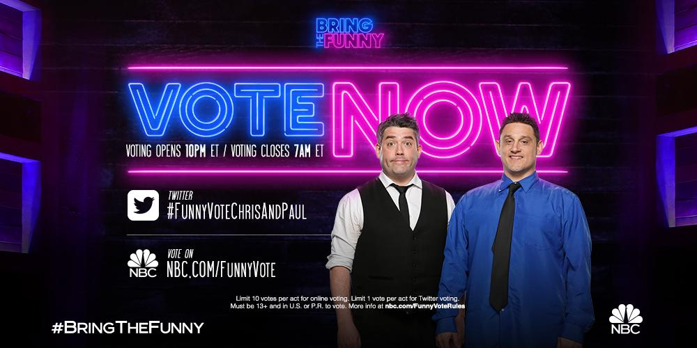 @bringthefunny's photo on #funnyvotechrisandpaul
