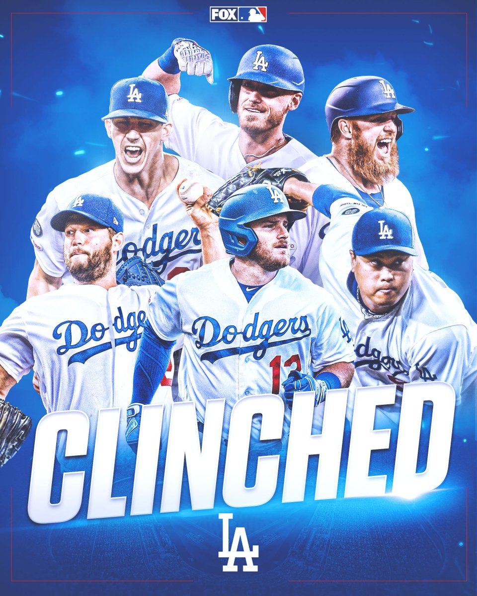 CLINCHED.The @Dodgers have won the NL West for the 7th consecutive season!
