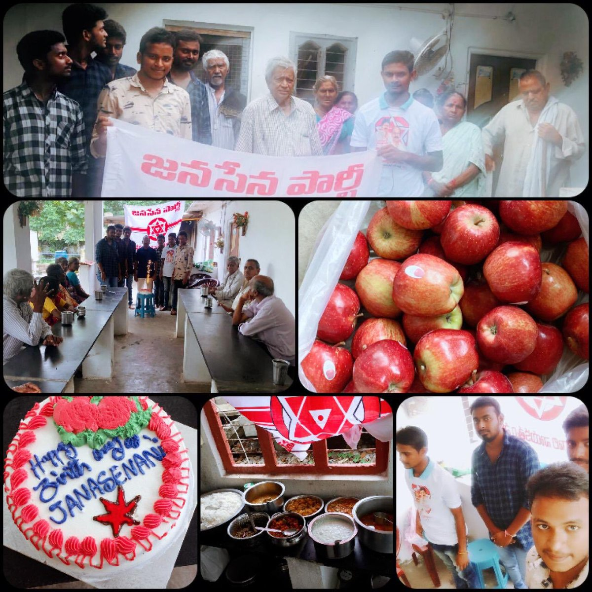 Fruits Donation & Cake Cutting At A Old Age Home Near Magallu Village  #HappyBirthdayPawanKalyan <br>http://pic.twitter.com/U6120QCCXC