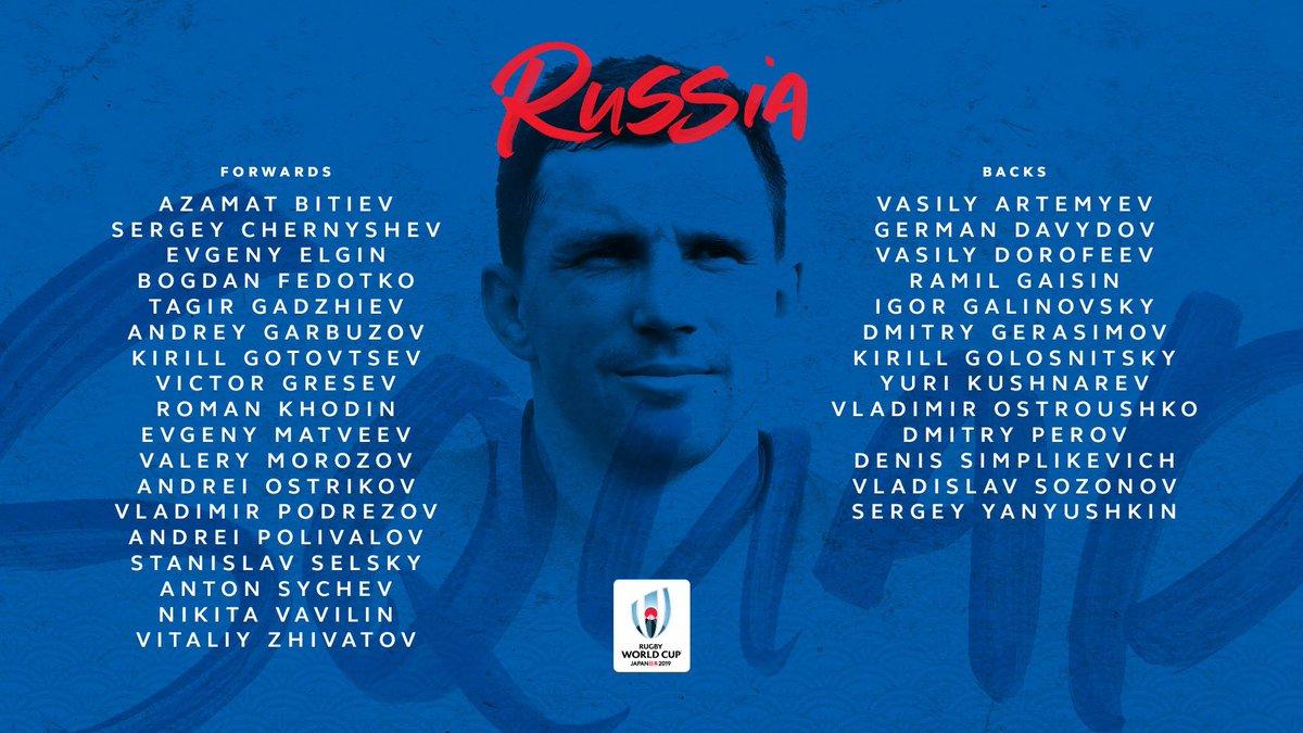 @lospumas @RugbyCanada @EnglandRugby @fijirugby @FranceRugby @GeorgianRugby @IrishRugby @Federugby @JRFURugby @RugbyNamibia @AllBlacks Its @RugbyRussia contesting their first RWC since 2011, in Pool A. #RWC2019
