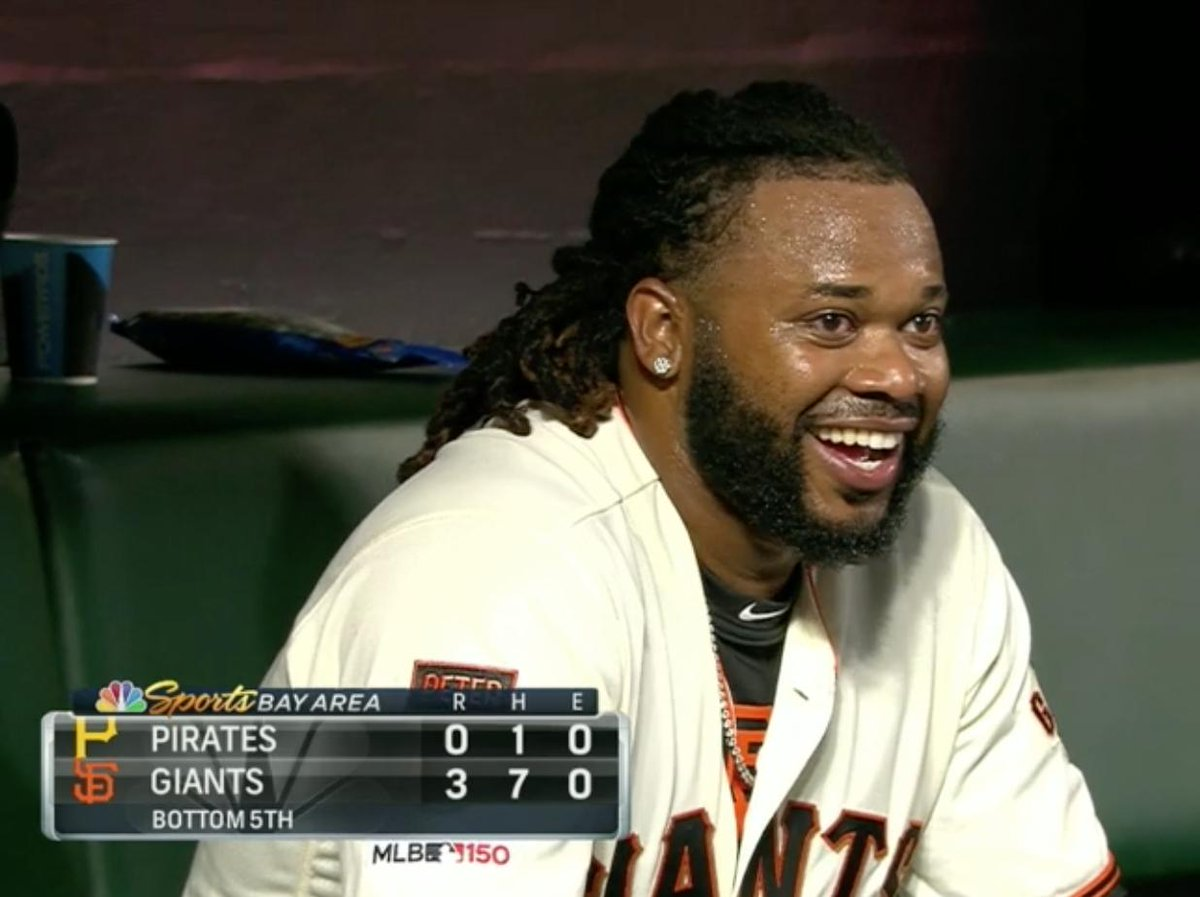 Every time Johnny Cueto smiles, an angel learns to shimmy