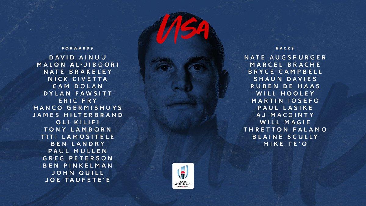 @lospumas @RugbyCanada @EnglandRugby @fijirugby @FranceRugby @GeorgianRugby @IrishRugby @Federugby @JRFURugby @RugbyNamibia @AllBlacks @RugbyRussia @Scotlandteam @Springboks @RugbyUruguay In Pool C, watch out for @USARugby #RWC2019