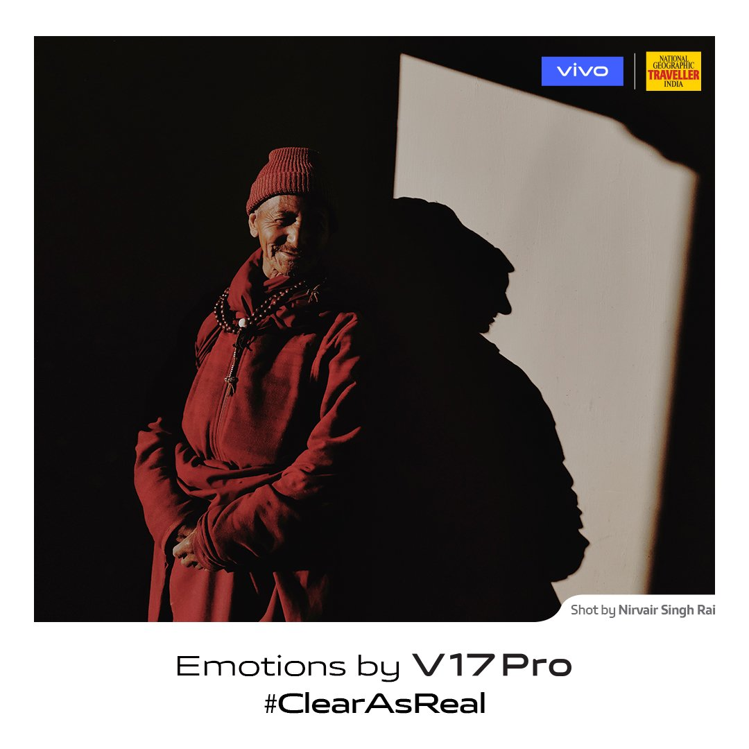 Smile wide and sail through the darkest times. #ClearAsReal emotions captured by photographer Nirvair Singh Rai on #vivoV17Pro in partnership with @NGTIndia. Launching on 20th September.