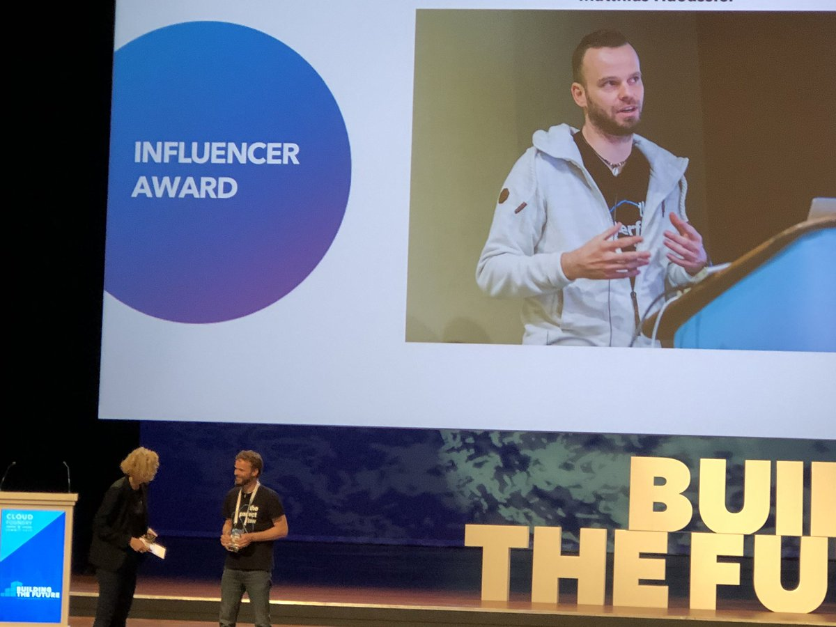 So great to see my friend and colleague @maeddes from @novatecgmbh getting the well deserved influencer award #cfsummit <br>http://pic.twitter.com/SRG7pMoQEj