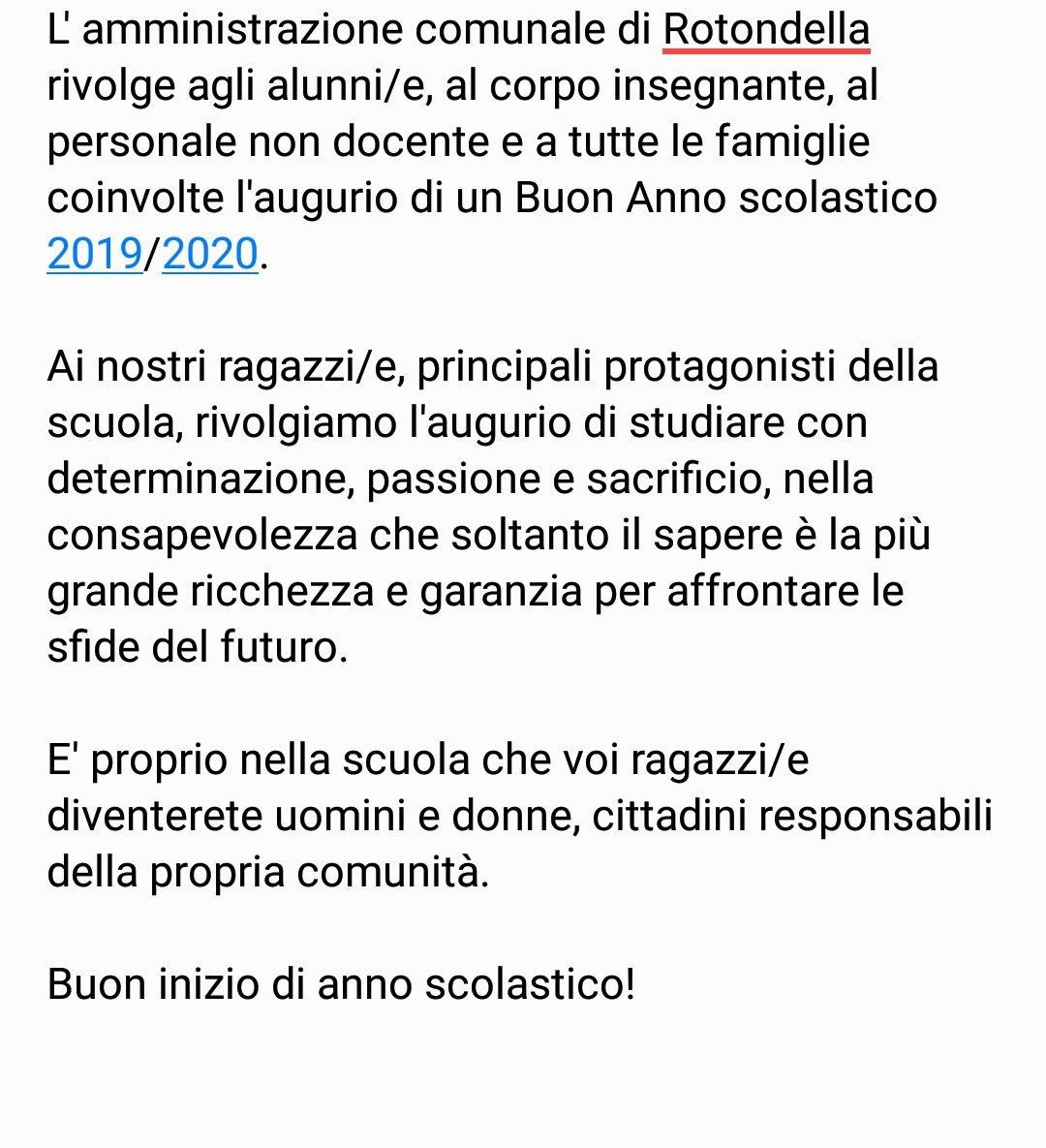 Buon Anno Scolastico. #Rotondella #scuola https://...