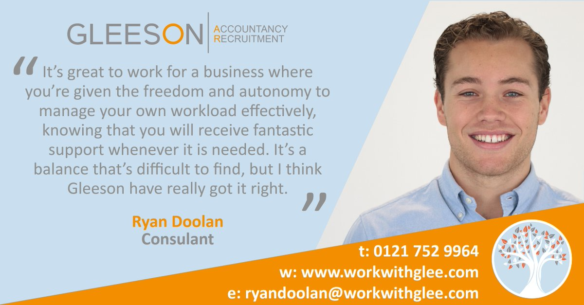 Be the first to know about new and upcoming roles by joining Ryan's network - ryandoolan@workwithglee.com | 0121 752 9964  #accountancy #opportunities #workwithglee <br>http://pic.twitter.com/klE4KQj9RY