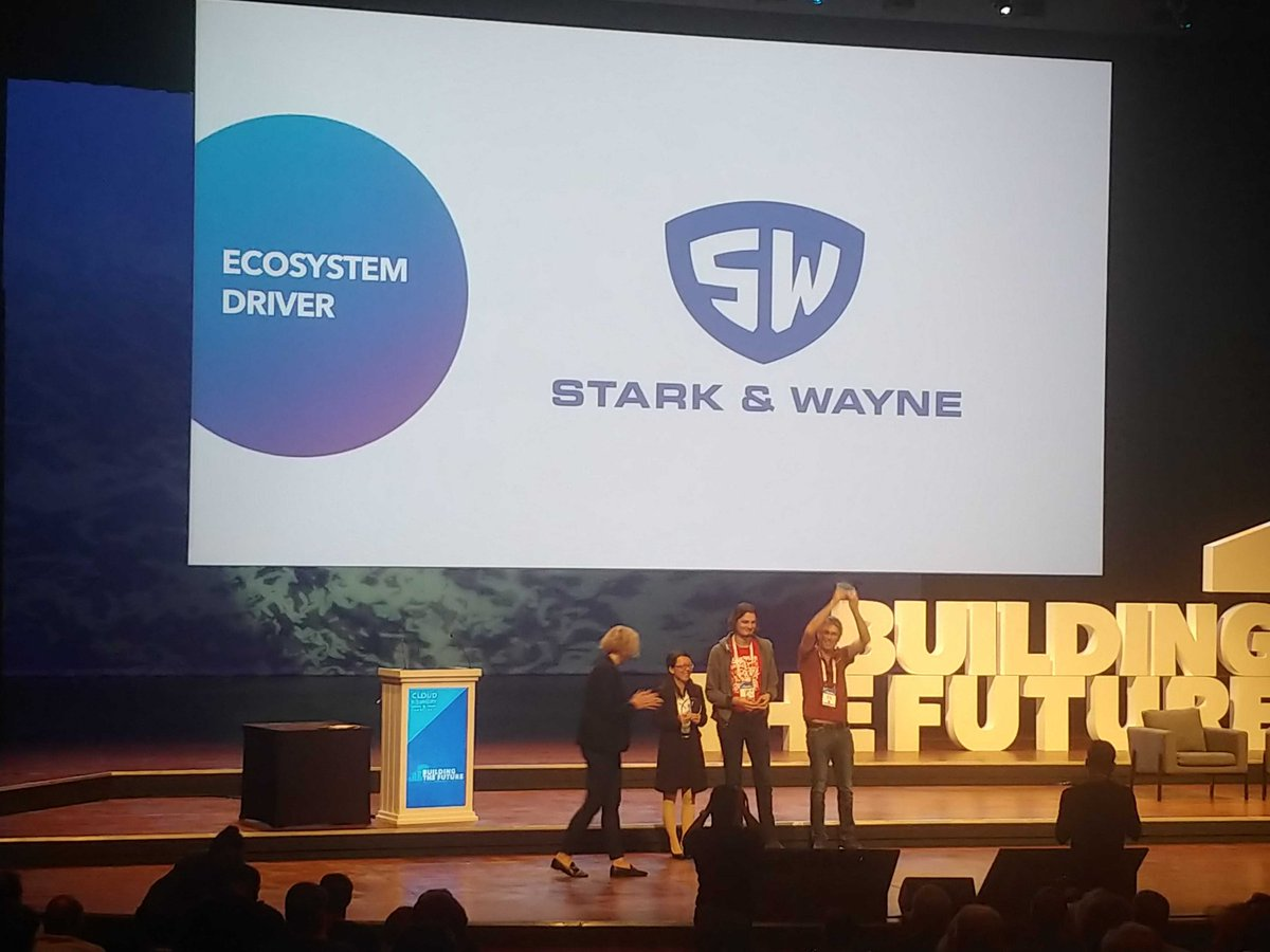 Thanks to everyone for the #cfsummit Ecosystem Driver award to @starkandwayne<br>http://pic.twitter.com/O7nRrxKYIN