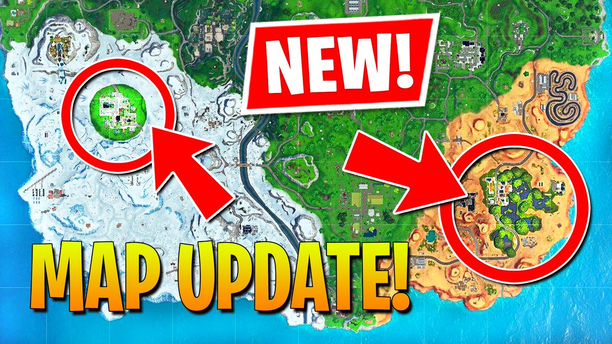 LIVE - http://youtube.com/watch?v=-I6SGoLH3f4…New Fortnite update featuring Greasy Grove and Moisty Mire + tons of other stuff!